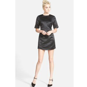 TOPSHOP Satin A Line Dress Zipper 6